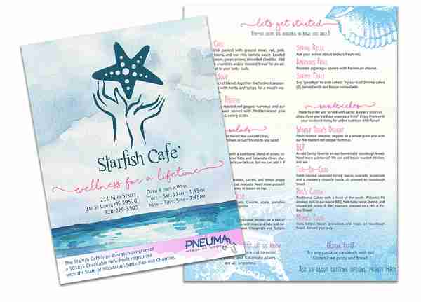 menu print portfolio