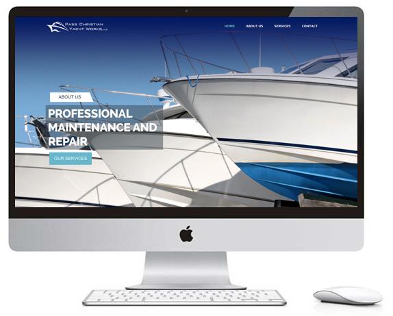 Jaimee Designs Pass Christian Yacht Works Website Launch