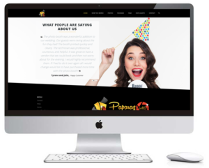 PaparazMe Photo Booth Website